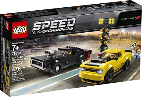 Lego ® Speed Champions 75893 Dodge Challenger SRT Demon And 1970 Dodge Charger