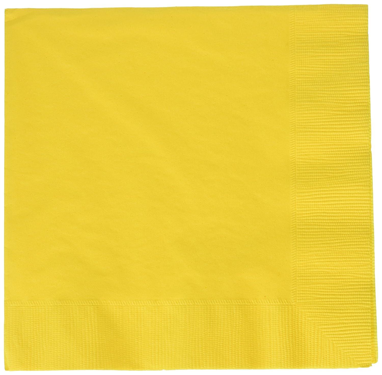 Amscan International Luncheon Napkins Sunshine Yellow, Pack of 50 61215.09