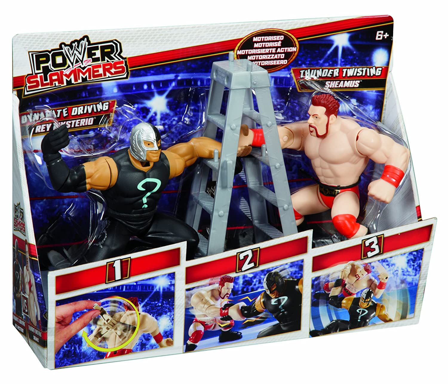 WWE Power Slammers Sheamus and Rey Mysterio Figure Starter Pack Mattel Y7074