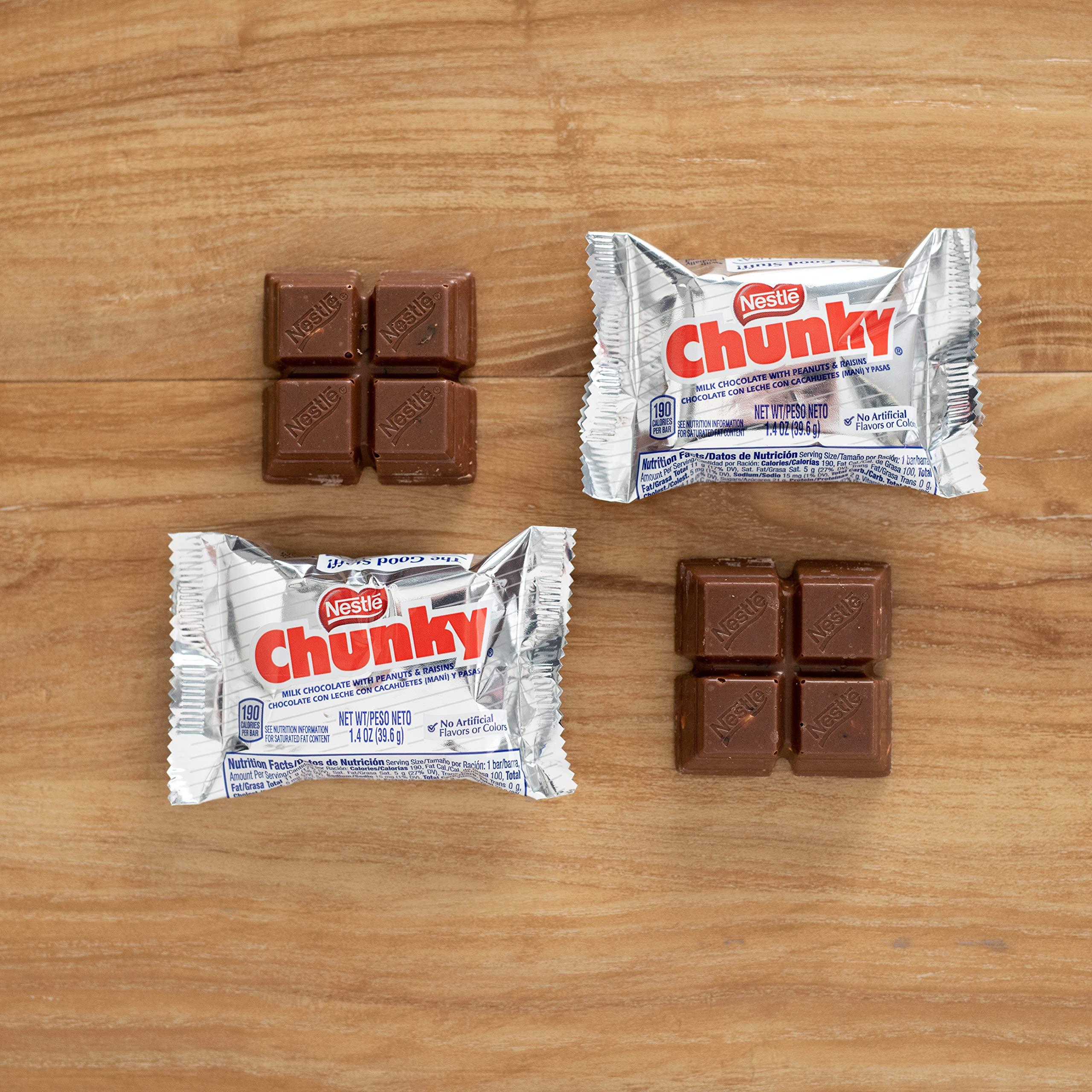 Nestle Chunky Chocolate Single Candy Bars, 1.4 Ounce (Pack of 24) by Chunky (Image #10)