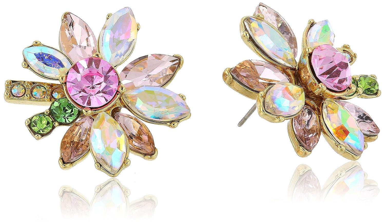 Betsey Johnson Womens Mixed Stone Flower Stud Earrings Betsey Johnson Jewelry B12486-E01