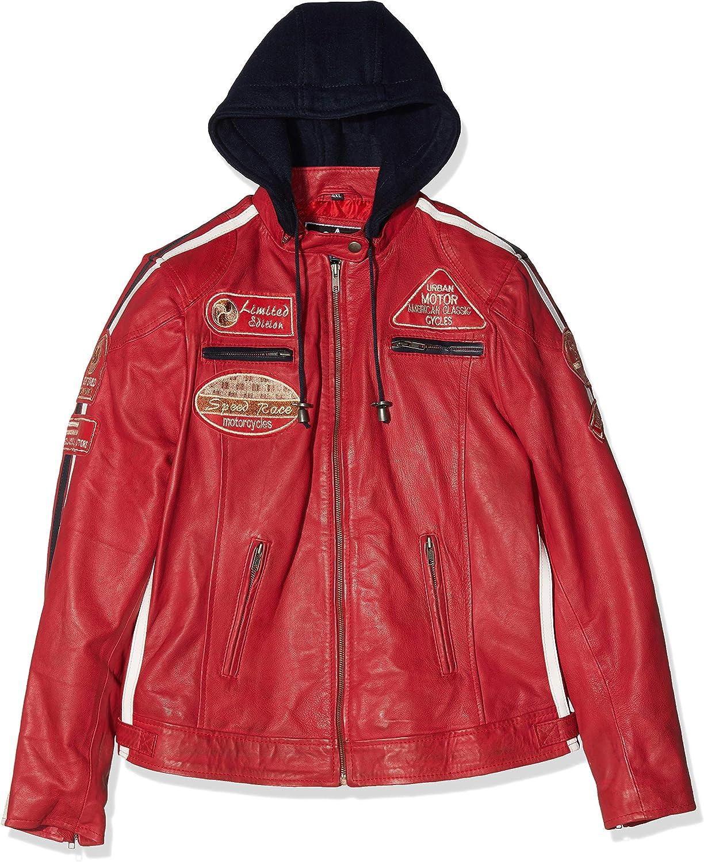 Taglia S Urban Leather UR 204 Michelle Fashion Giacca in Pelle da Donna Marrone