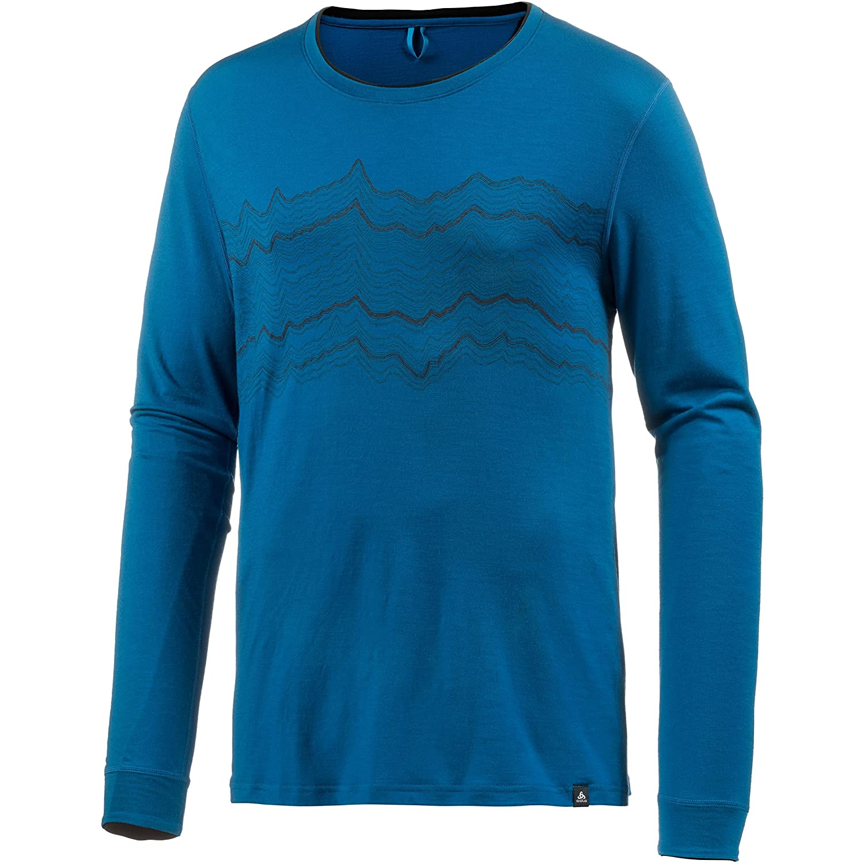 Odlo Damen Natural 100 Merino Warm Baselayer Shirt with Print Tshirt