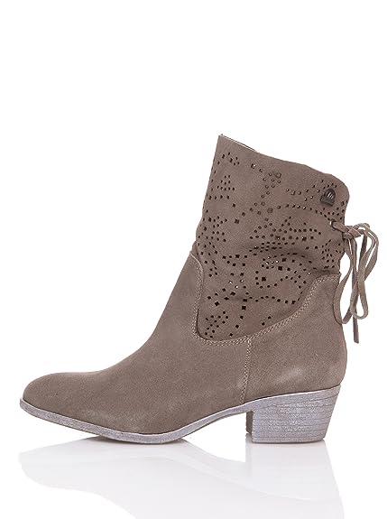 MTNG Originals Botín - Botines, color serraje taupe 90241, talla 36: Amazon.es: Zapatos y complementos