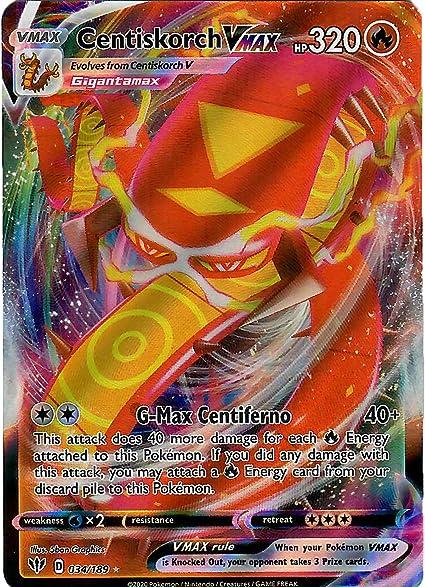 Pokemon Centiskorch VMAX 034//189 Ultra Rare