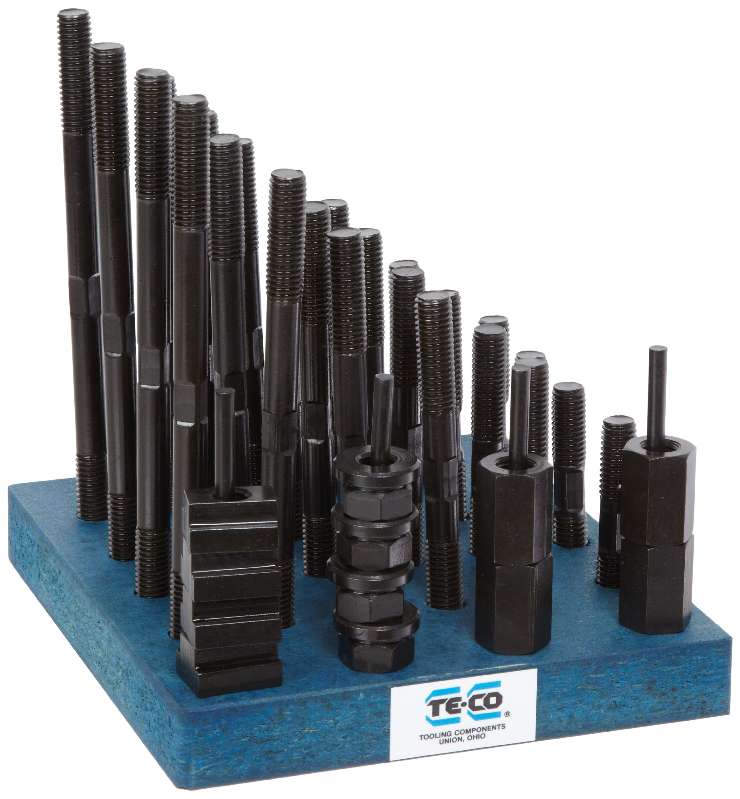 Te-Co 20605 38 Piece T-Nut and Stud Kit, 1/2''-13 Stud x 9/16'' Table T-Slot by Small Parts