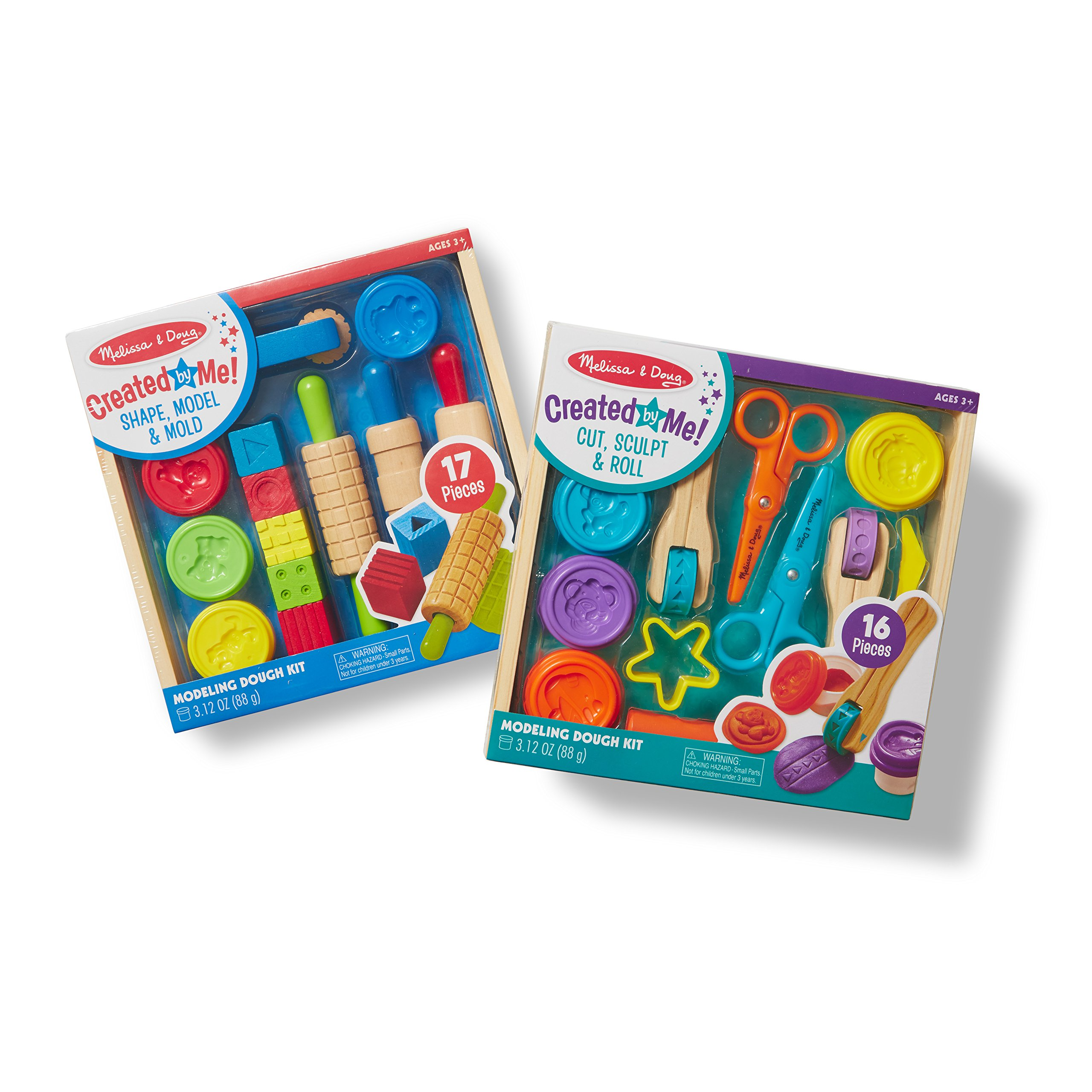 Melissa & Doug Clay Play Activity Set - With Sculpting Tools and 8 Tubs of Modeling Dough