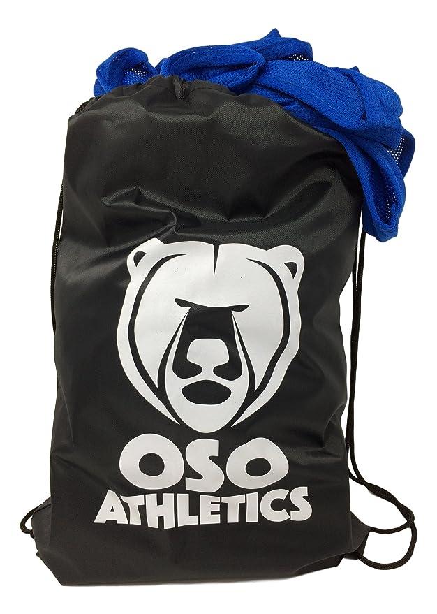 Oso Athletics - Juego de 12 playeras de malla de poliéster con números de 1  a 12 y de 13 a 24 con bolsa de transporte para niños c2666b326de67