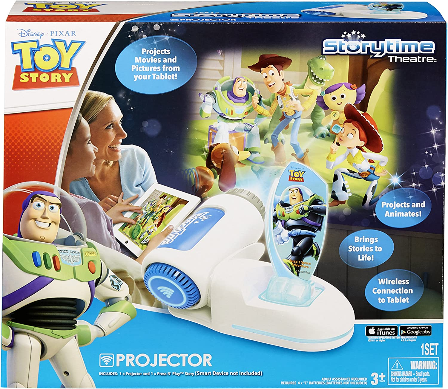 Amazon Com Tech 4 Kids Story Time Theater With Buzz Light Year Press N Play Toys Games