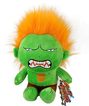 STREET FIGTHER - Peluche Blanka street figther 27 cm - Calidad Super Soft