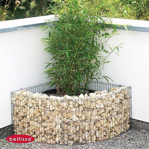 Bellissa – pared de esquina Valla de 73 x 73 x 81 cm, altura 40 cm ...