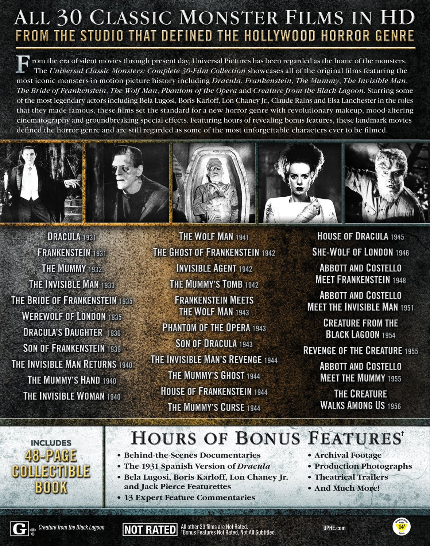 Amazon com: Universal Classic Monsters: Complete 30-Film