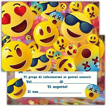 Famoso Partycards Set di 12 inviti Compleanno Biglietti invito per Festa RQ01