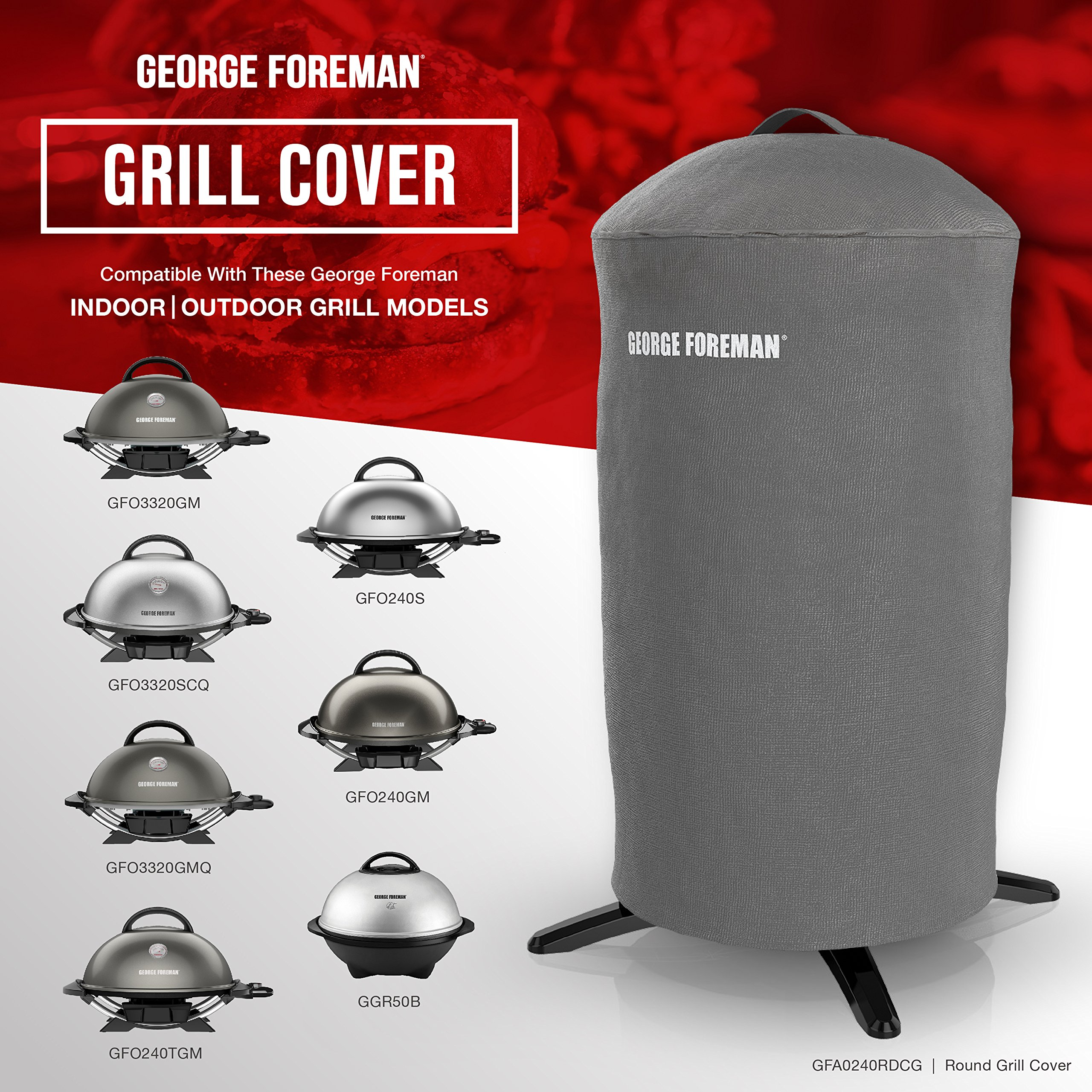 George Foreman GFA0240RDCG Round Grill Cover, Gray by George Foreman (Image #7)