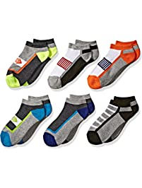 Jefferies Socks boys Sporty Athletic Low Cut Half Cushion Socks 6 Pair Pack Socks