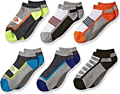 Jefferies Socks Boys Big Tech Sport Quarter Socks 6 Pair Pack