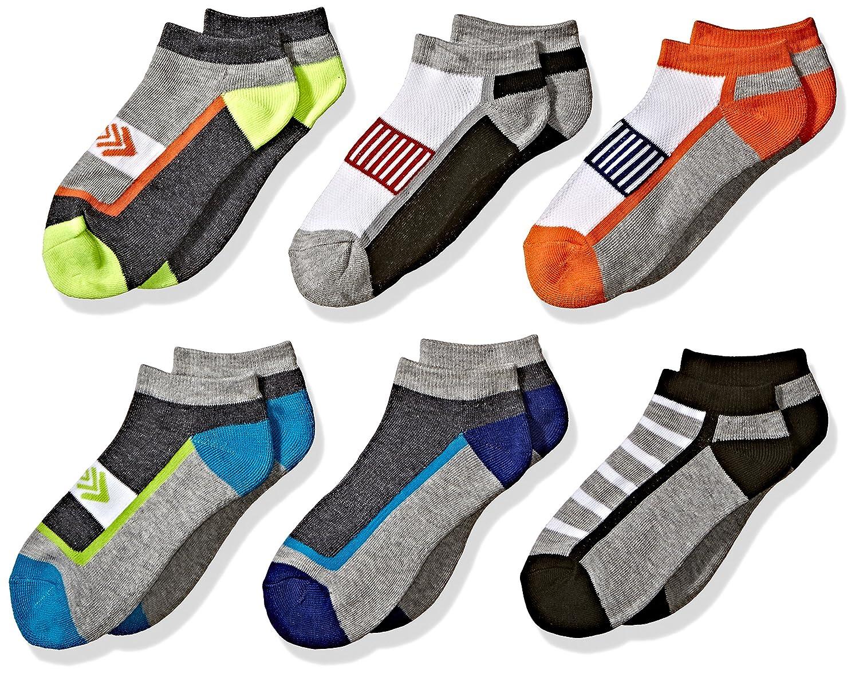 Jefferies Socks boys Big Boys Sporty Athletic Low Cut Half Cushion Socks 6 Pair Pack 1177