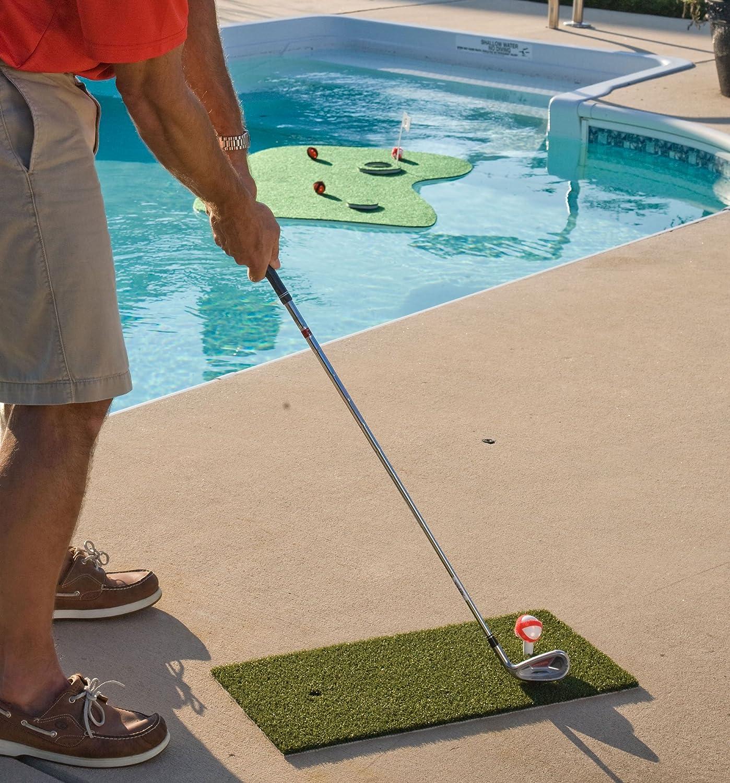 amazon com putt a bout aqua golf floating putting mat green