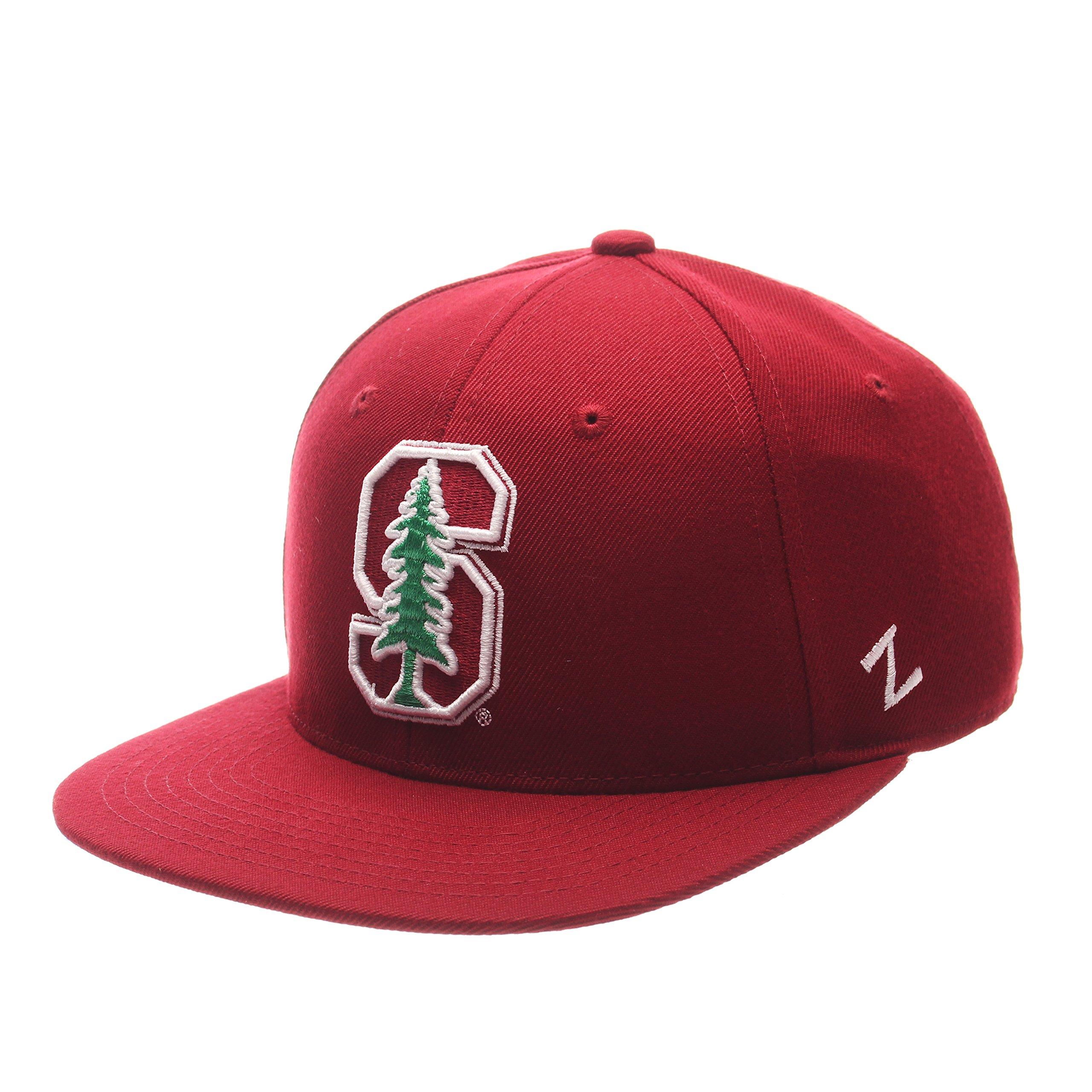 Zephyr NCAA Stanford Cardinal Men's M15 Fitted Hat, Cardinal, Size 7 3/8