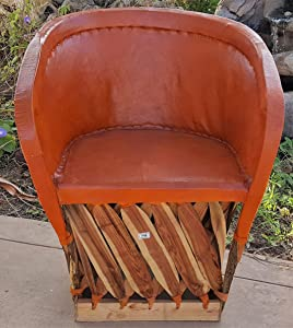 """Reustic Leathe Chair """"Equipale"""""""