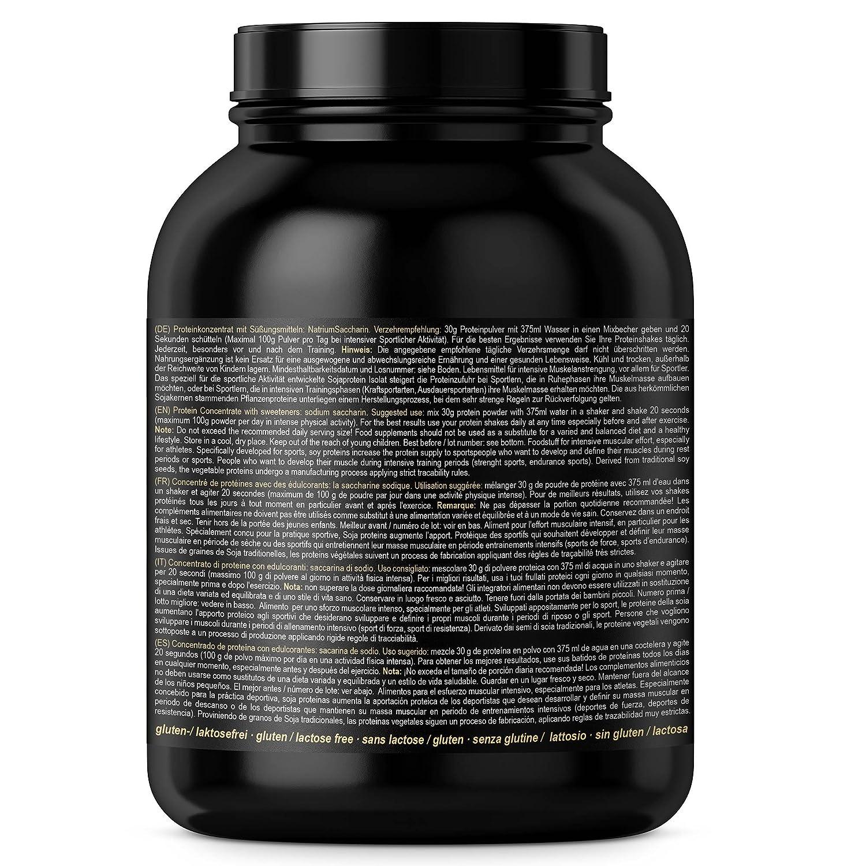 BBGENICS Deutschland - Soja Isolat, proteína en polvo, 1000g chocolate: Amazon.es: Salud y cuidado personal
