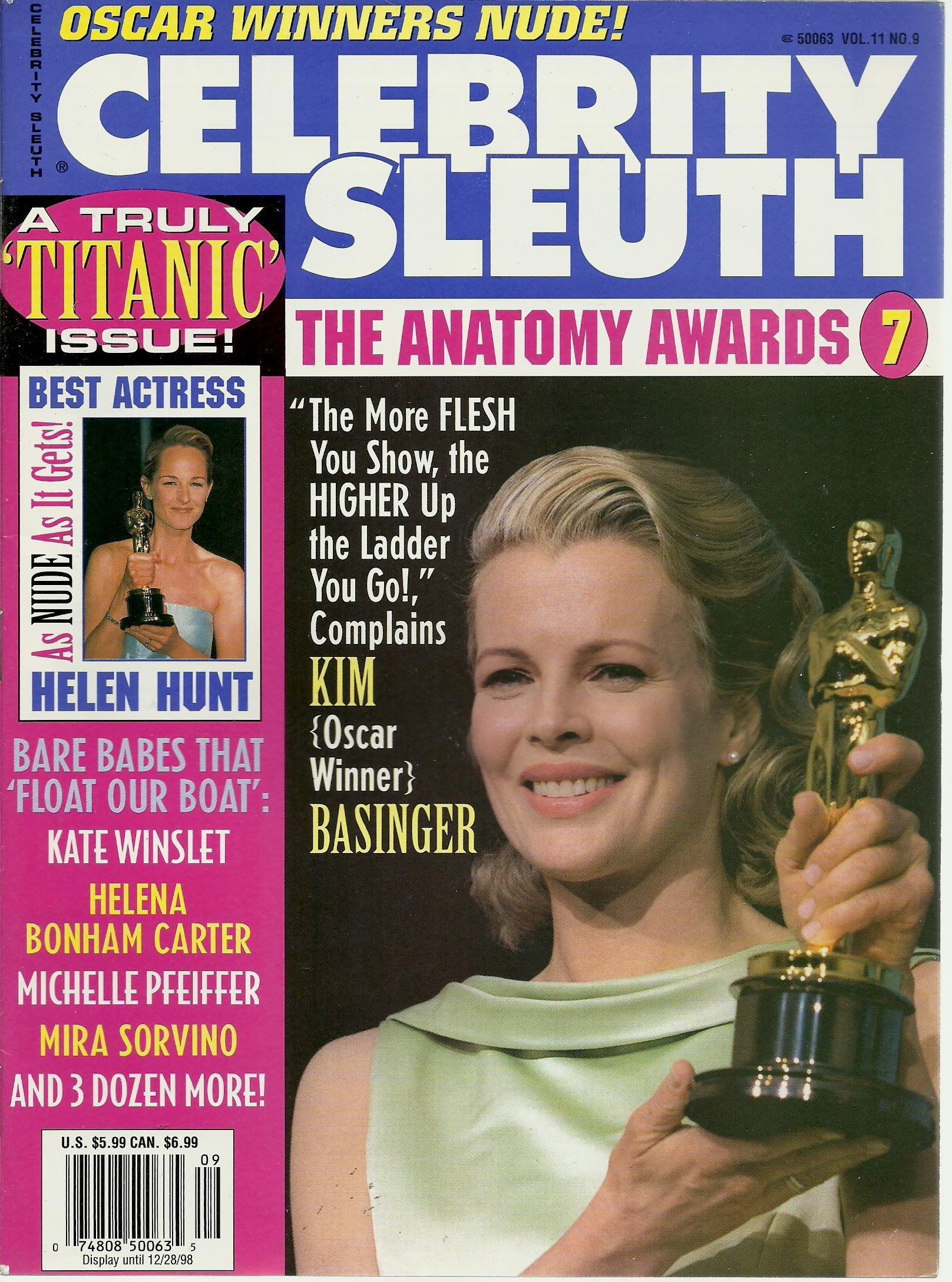 Celebrity Sleuth Vol11 9 The Anatomy Awards 7 Oscar Winners