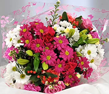 Mothers Day Flowers Delivered Pink White Flower Bouquet