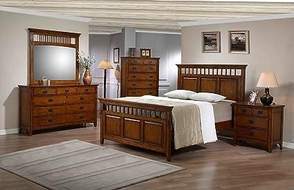 Cambridge 98129A5F1 Oak 5 Piece Sadona Bedroom Suite