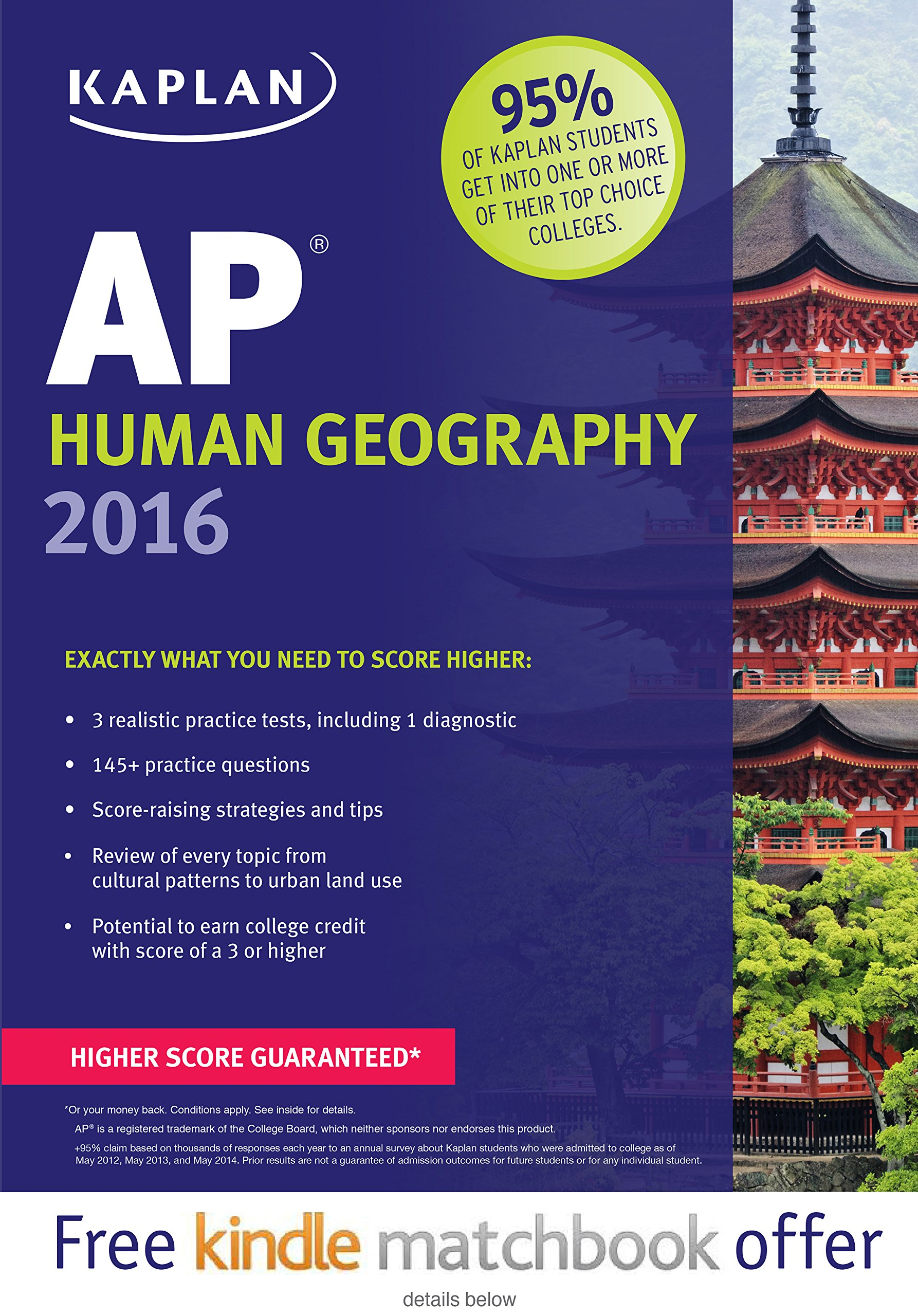 Kaplan Human Geography 2016 Test product image