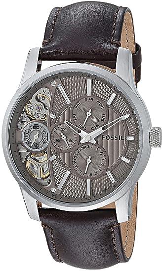 Fossil Reloj analogico para Hombre de Cuarzo con Correa en Piel ME1098: Fossil: Amazon.es: Relojes