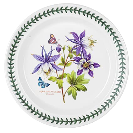 Portmeirion Exotic Botanic Garden Dinner Plate Set with 6 Assorted Motifs  sc 1 st  Amazon.com : botanic garden dinner plates - pezcame.com