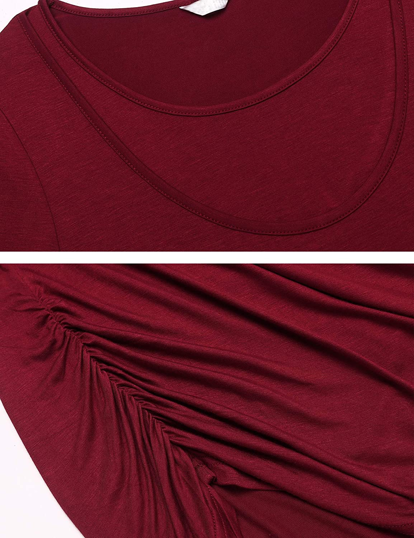 UNibelle Donna Maglia Premaman Allattamento Maglieria per maternit/à Maglia Premaman Corta Casual Top T Shirt Manica Lunga S-XL