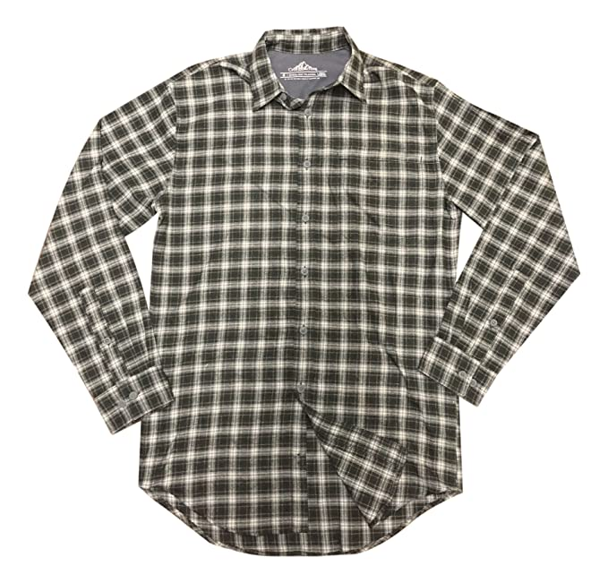 5620018d7c Croft   Barrow Men s Plaid Qick Dry Flannel Shirt (X-Large