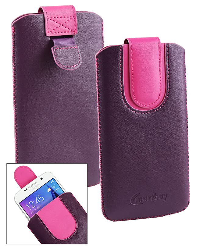 3 opinioni per Emartbuy® Viola / Hot Rosa Alta Qualità PU Pelle Custodia Case Cover Sleeve (