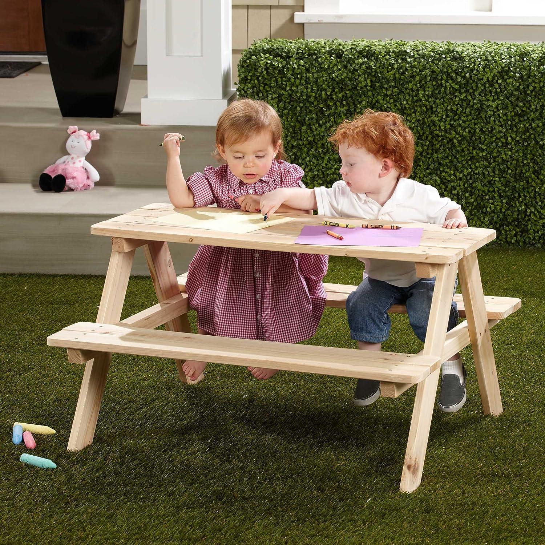 Amazon.com : Merry Garden Kids Wooden Picnic Bench : Outdoor ...