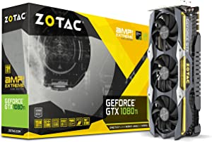 ZOTAC GeForce GTX 1080 Ti AMP Extreme Core Edition 11GB GDDR5X 352-bit PCIe 3.0 Gaming Graphics Card VR Ready (ZT-P10810F-10P)