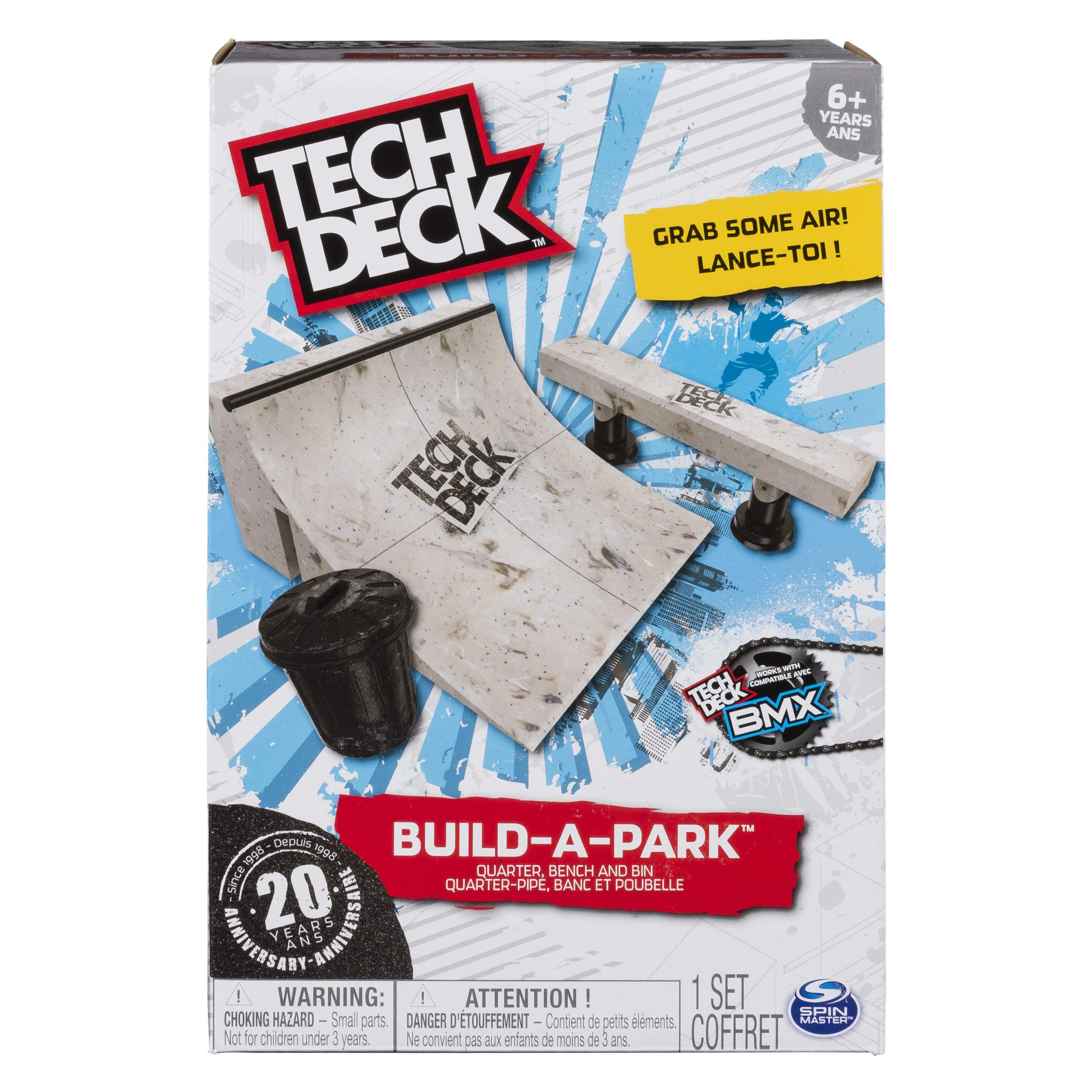 TECH DECK - Build-A-Park - Quarter, Bench, and Bin - Ramps Boards and Bikes