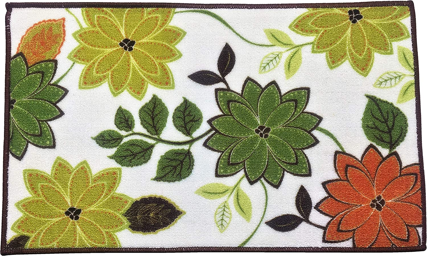 """Harvest Season Rug, Non-Skid Home, Kitchen, Floor Mat, Comfortable Standing and Entrance Rug, 17"""" x 28"""" (Bloom)"""