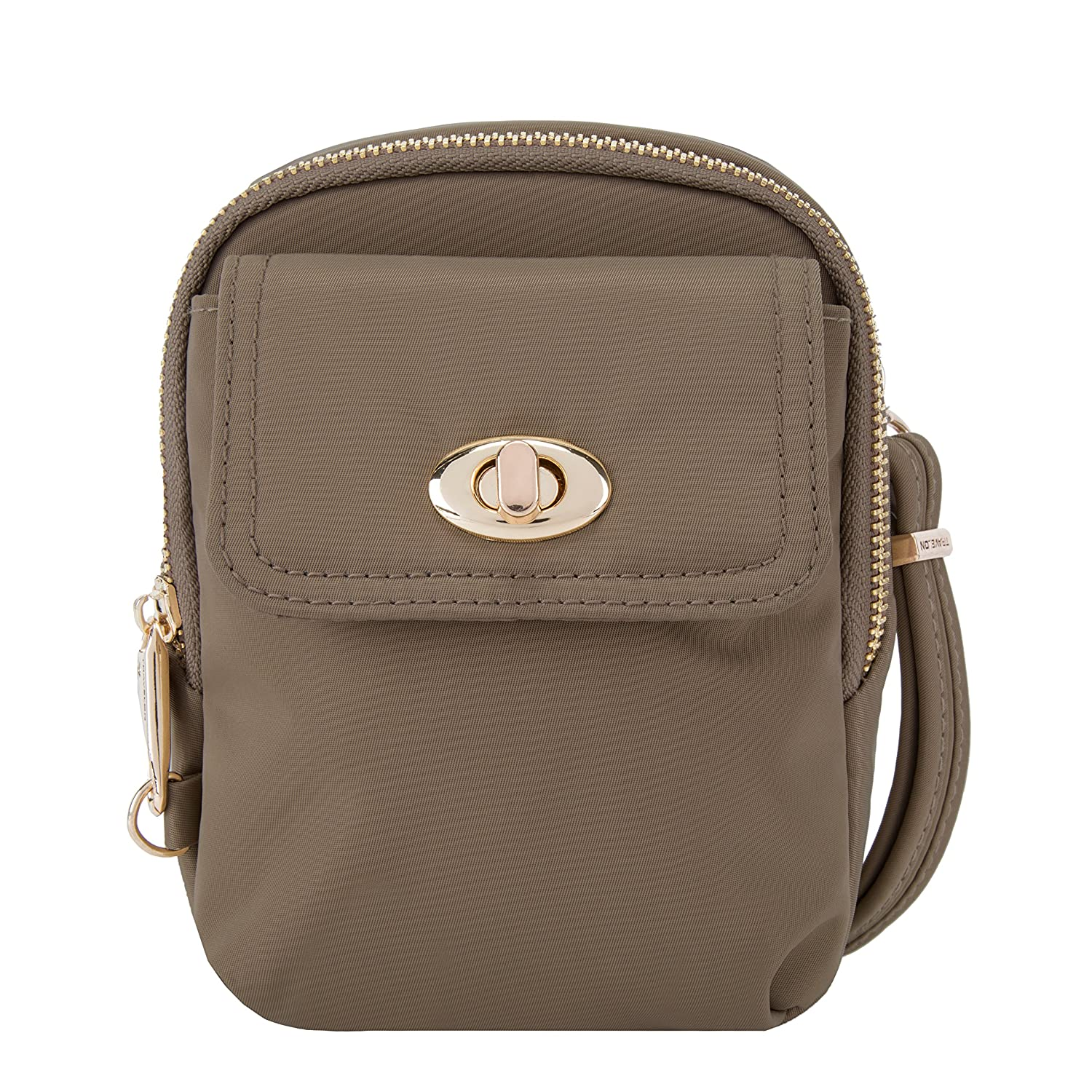 8f00be2e6b Amazon.com  Travelon Women s Anti-Theft Tailored Crossbody Phone Pouch Cross  Body Bag Garnet One Size  Cambridge Select