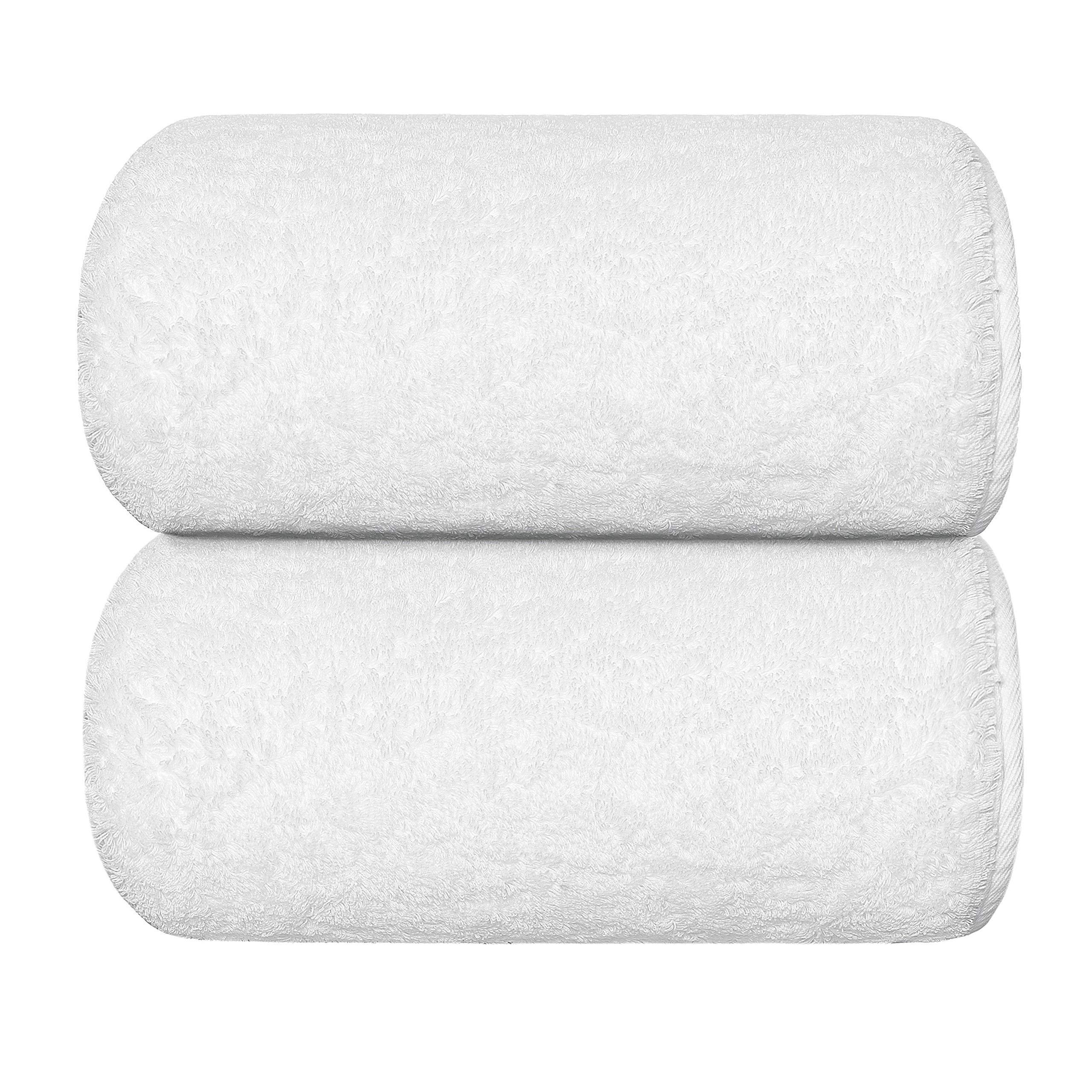 Graccioza Egoist Bath Sheet (41'' x 72'') - White - Made in Portugal, 800-GSM, 100% Egyptian Giza Cotton by Graccioza Collection (Image #1)
