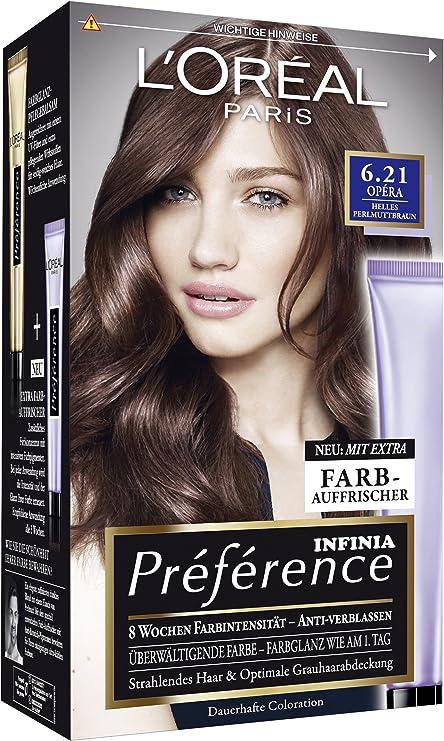 L Oréal Paris Préférence, 6.21 Opéra – Muy Brillante Nácar marrón, 3 Pack (3 x 1 pieza): Amazon.es: Belleza