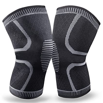 84c0ff0bd0 BERTER Knee Brace for Men Women - Compression Sleeve Non-Slip for Running,  Hiking