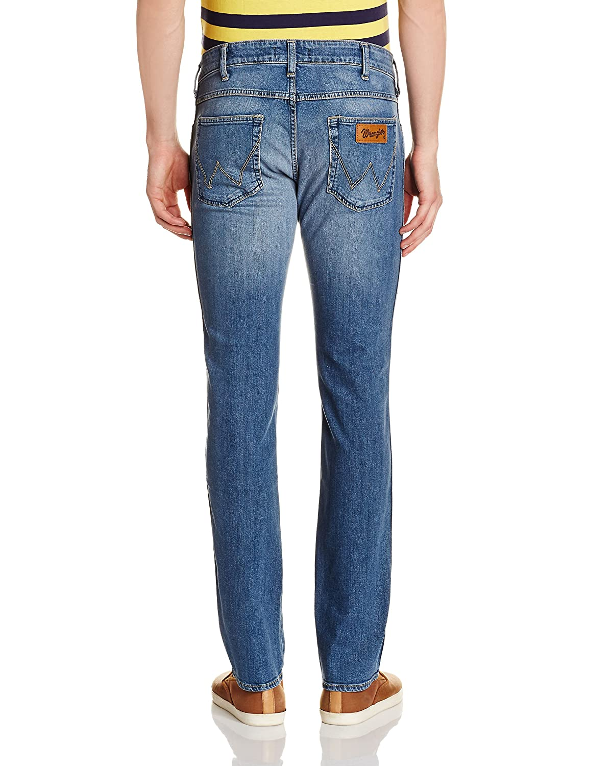 83e3cf42 Wrangler Men's Cotton Jeans (8907222956912_W24119W2283G_40W x33L_Light  wash): Amazon.in: Clothing & Accessories