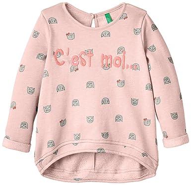 United Colors of Benetton 3PM8C1228 Cest Moi Sweat Top, Sudadera para Niños, Rosa Palido, 3 A 4 Años: Amazon.es: Ropa y accesorios