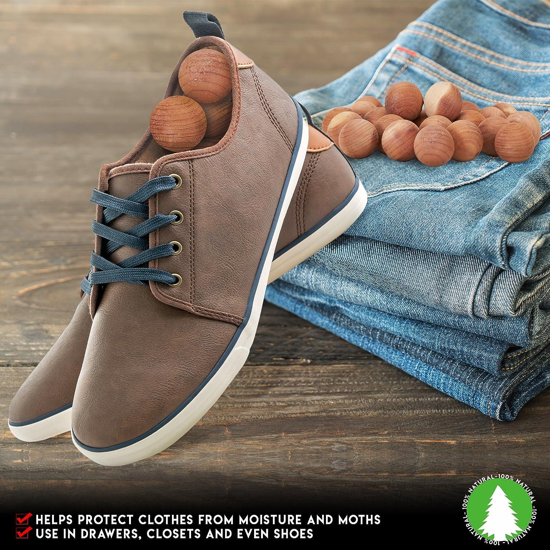 Prevents Mould SpiffyJack 48 Pack 100/% Organic Natural Moth Balls Cedar Wood Moth Repellent Moth Balls for Moth Killer damp mustiness