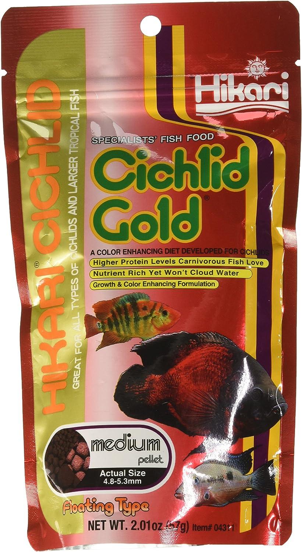 Hikari Cichlid Gold Fish Food, Medium Pellets