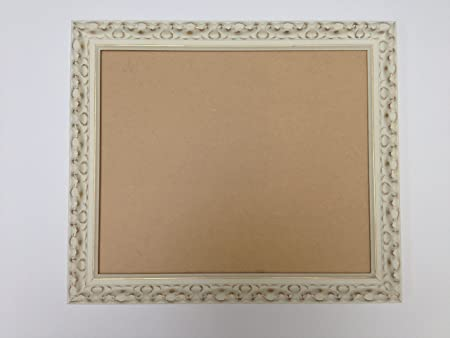 30mm Ornate White And Gold Shabby Chic Style Picturephotograph