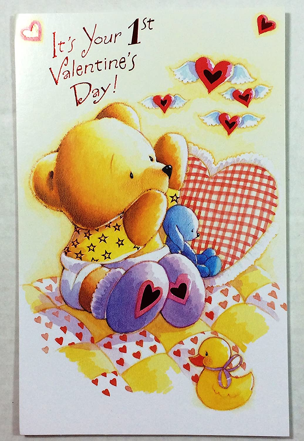 Amazon Valentine Card For Babys 1stits Your 1st Valentines