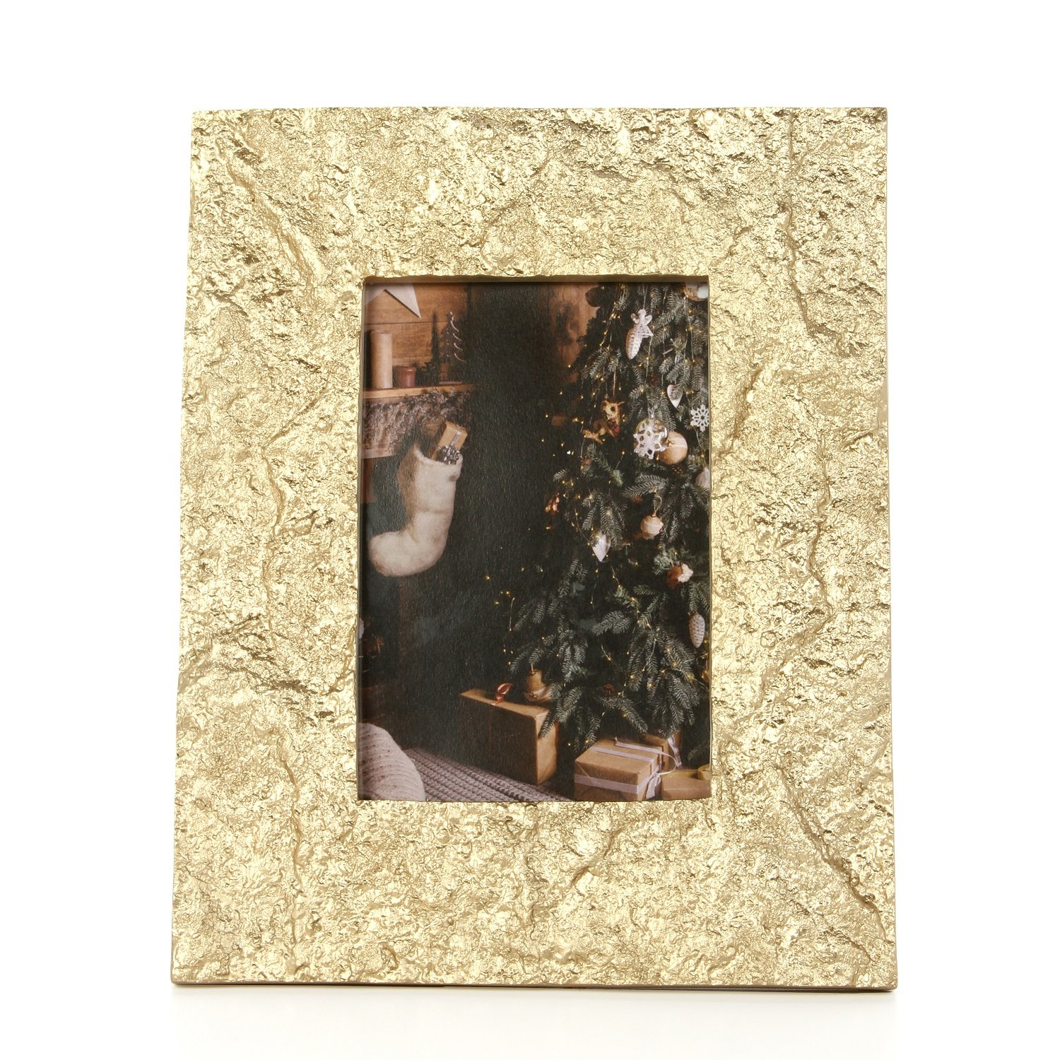 Hosley 4X6 Gold Photo Frame- 9'' High. Ideal Gift for Home, Wedding, Party. Home Office, Spa P2
