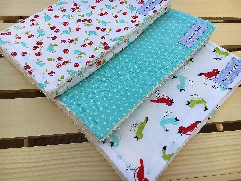 Handmade Burp cloths set of 5